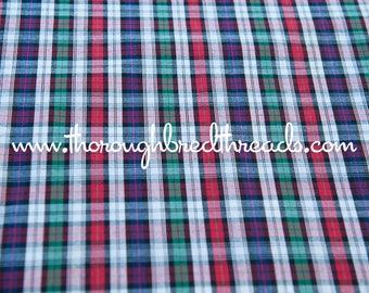 Happy Preppy Plaid - Vintage Fabric Multi-Colored Checked