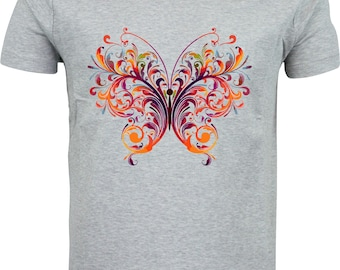 Personalised abstract butterfly funny humour gift full color sublimation t shirt