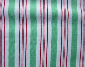 Bunny Hill Designs Seasonal Christmas Candy Cane Stripe Light Green - Moda - 2916 16 Sugar Plum Christmas