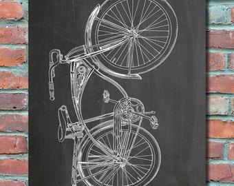 Bicycle patent art bicycle poster vintage bicycle schwinn bike patent wall art print bike patent art bike patent poster bike malvernweather Images