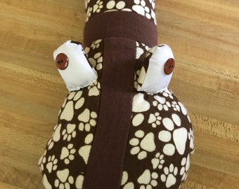 paw prints Baby Pillow Snake