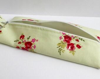 Handmade flat cotton fabric pencil case/makeup bag/storage bag