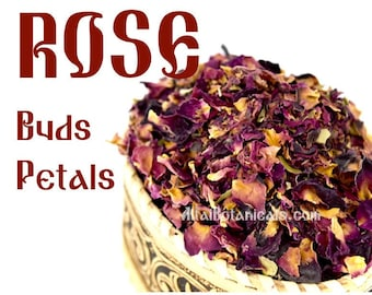 Dried Rose Petals & Buds (red) - 1.8oz./50gr.