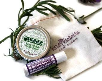 Spa Gift Set Mini / Hand Balm and Lip Balm Gift Bag