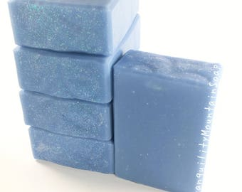 Man Soap Cold Process Artisan Soap Gift Ideas For Men Soap Winter Soap Handmade Soap Birthday Gifts For Him Soap Blue Soap WINTER WIND
