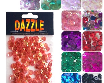 Dazzle Cupped Sequins 8mm - 260pcs