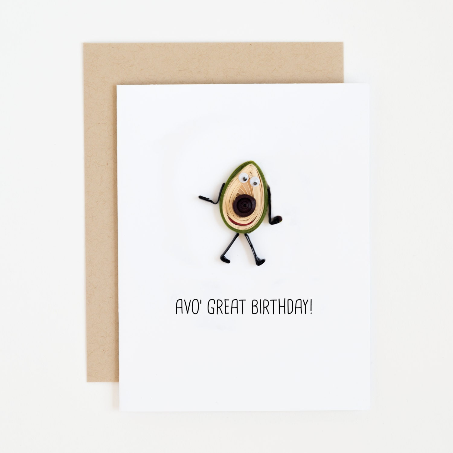 Avocado Card Happy Birthday Card For Him Birthday Card For