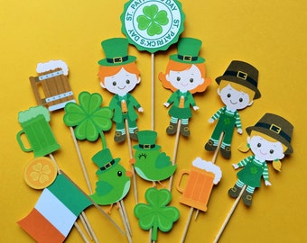 St. Patrick's Day cupcake toppers, Irish party, St. Patrick's Day party, St. Patrick's Day cake topper, St. Patty's day party