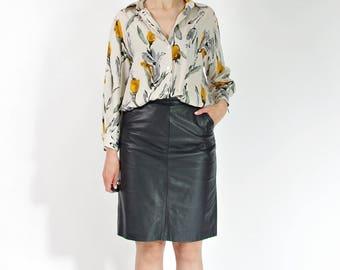 SALE! 90s Gina G summer flower women shirt / size M-L