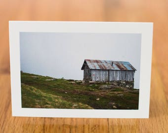 Cabin in Norway, Travel Photo Card with envelope, Blank Inside