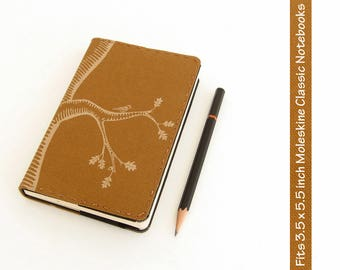 Oak Tree Canvas Moleskine Notebook Cover - Choose Type and Color of Canvas - Fits Small Moleskine 3.5 x 5.5 inch Hardcover Notebooks