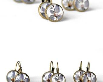 Boho earrings Nature earrings Indigo blue earrings for kids Denim blue jewelry nature lover gift Mini earrings for girl gift for best friend