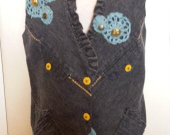 Amazing, Blue Jean, Boho, shabby sheik, Shabby sheik, Vest