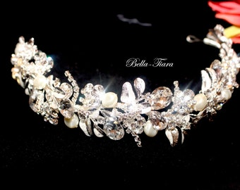 Swarovski Kristallstirnband, Kristall hochzeitsstirnband, Hochzeit Kopfschmuck, Kristall-Haar-Rebe, hochzeitsstirnband, Kristall-Stirnband