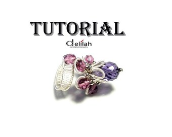 Purple Flower Ring Tutorial Wire Wrap Jewelry Tutorial Crystal Ring Tutorial PDF Tutorial Instructions How to Make a Wire Wrapped Ring