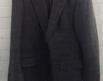 Men's navy/brown/beige jacket by Shepton Manston Peterborough - Large