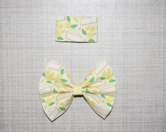 Lemon Meringue Cakee Bow or snap clip (you pick)