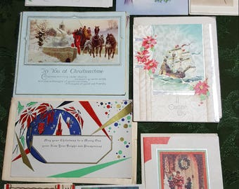 1930 to 1939 Vintage Christmas Card Collection # 23