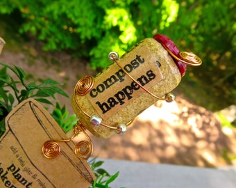 Corker Caboodle Wine Cork Plant Stake-ment
