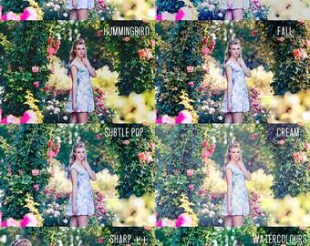 Fashion Portrait Photoshop Actions, Dreamy Nature Portrait Actions, Outdoor Photography Photoshop Actions, Summer Photoshop CS6 Actions