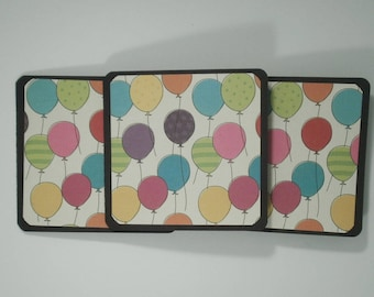 Mini Note Cards, Mini Birthday Cards, Balloons Cards, Gift Cards, Handmade Mini Cards, Birthday Cards, Set of 8, Mini Cards, Balloons