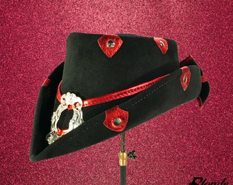 CLEARANCE!!! Red Steam-Trunk Riding Hat