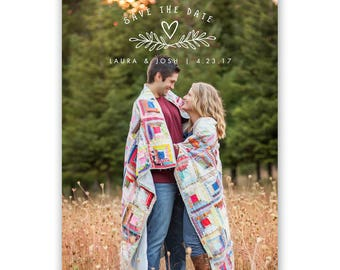 Save the Date Card Template - Save the Date Cards - Save the Date - Engagement Announcement