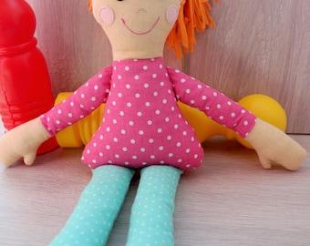 Textile doll Gft for her Kids gift Girl Gift Tilda doll Gift idea for girls Soft doll Unique gift Interior Dolls for girls Rag Doll