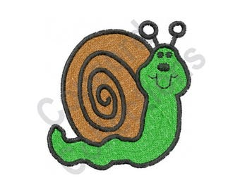 Snail - Machine Embroidery Design
