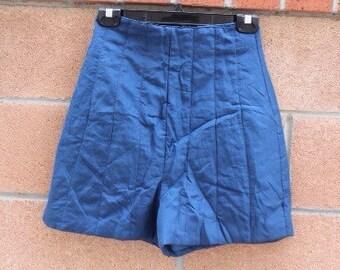 SILK High Waist BLUE Shorts