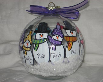 Extra Large Family - 6 - 15 people - personalized and hand painted