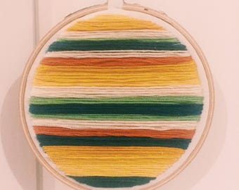 Triadic Color Line Embroidery