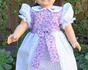 Handmade Doll Dress 18 inch doll dress Sweet Summer Dress, Lavender Blossoms Dress