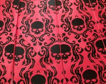 RokGear Neckties - Men's necktie - set of 2 neckties - RokGear original design Chronic Skull Damask - Custom colors