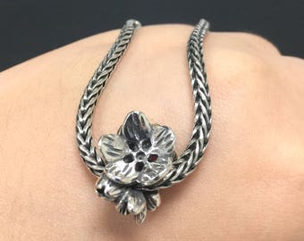 Indian Cress Bead 925 Silver