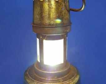 Rare 1969 Investiture Souvenir Miners Davy Battery Lamp