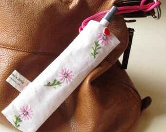 Epipen pouch, medication holder, allergy pen sleeve, diabetic pen sleeve, medicine case, pencil case, small medication bag, Nec38