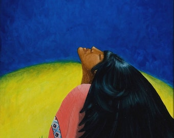 Dream Sister, Dream,Native American Series, Honoring Mother,8x10 LIMITED print, artist Schar Freeman