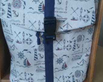 Rucksack backpack sail boats theme