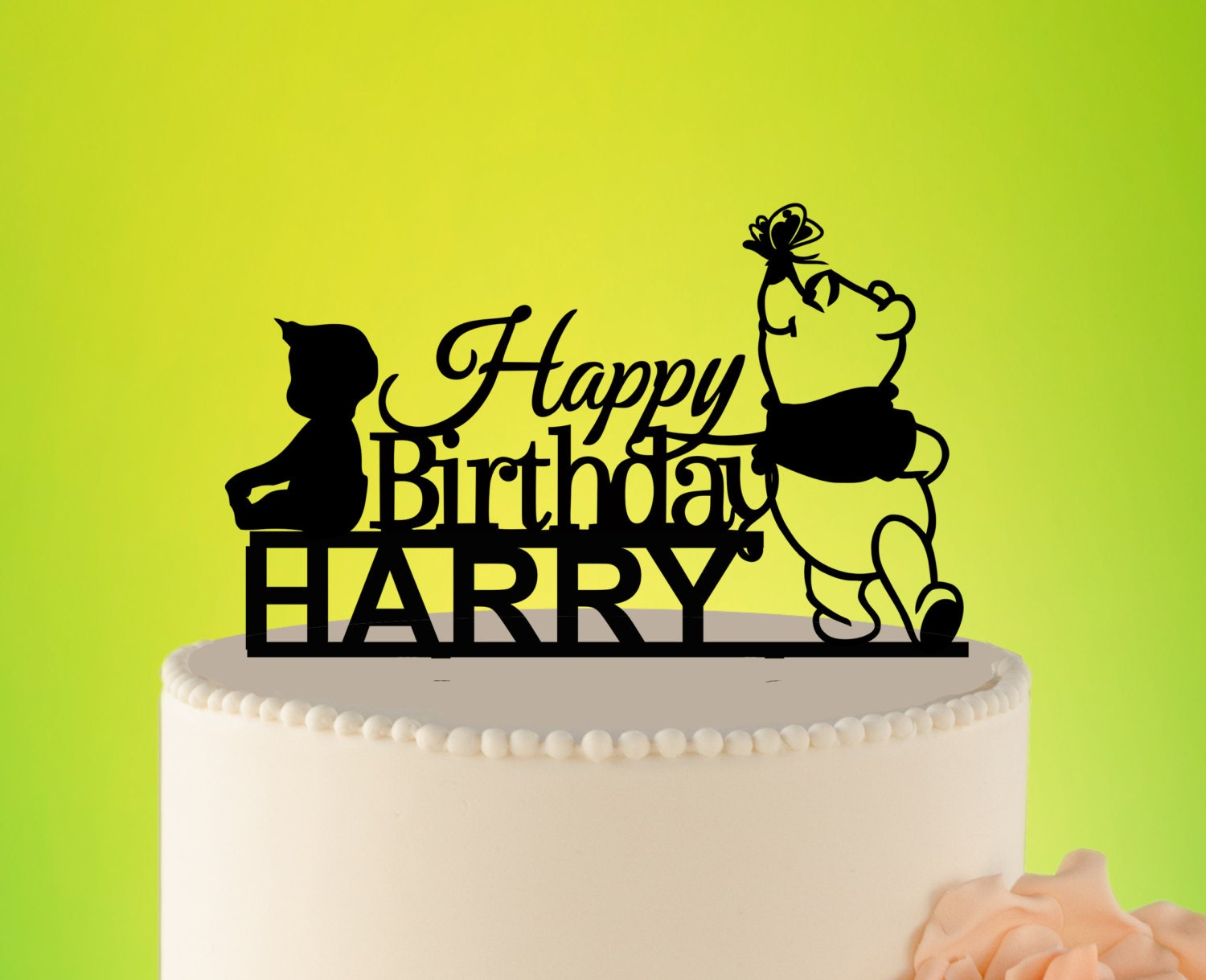 Kids Birthday Cake Topper Cartoon Cake Topper Kids Winnie The
