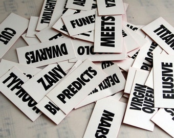 Words Shocking Headlines- Crazy Headline Cards- pkg of 30