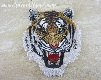 Iron On Patch, Embroidered Tiger Appliques