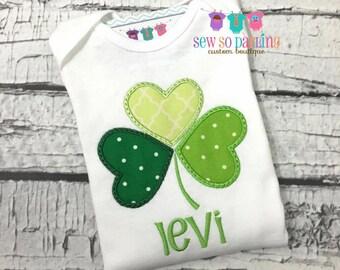 Baby Boy St Patricks Day Shirt - St Patricks Day Outfit - St Patricks Day shirt - Baby Boy Shamrock Shirt