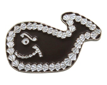Fudgie the Whale (enamel pin)