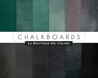 22 Real Chalkboard digital paper Black and Green Printable Digital Chalkboard Paper Pack Download for Personal and Commercial Use