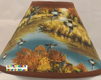 Bird lamp shade etsy duck ducks and wildlife fabric lamp shade aloadofball Image collections