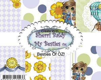 INSTANT DOWNLOAD Sherri Blady My Bestie 12 pack Adorable Besties Mermaid Sailor Paper Pack Digital Download Printable
