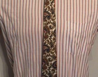 Vintage MENS J. Svoboda Sons paisley silk skinny tie, circa 50s-60s