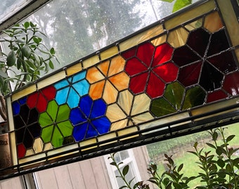 Geometric Flowers Stained Glass