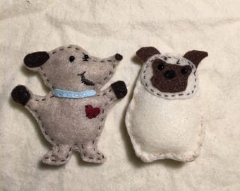 Pet Shop, Dog House, Miniatures, Finger Puppet Pug, Very Detailed. Pretend Play, Gift, Ready to ship